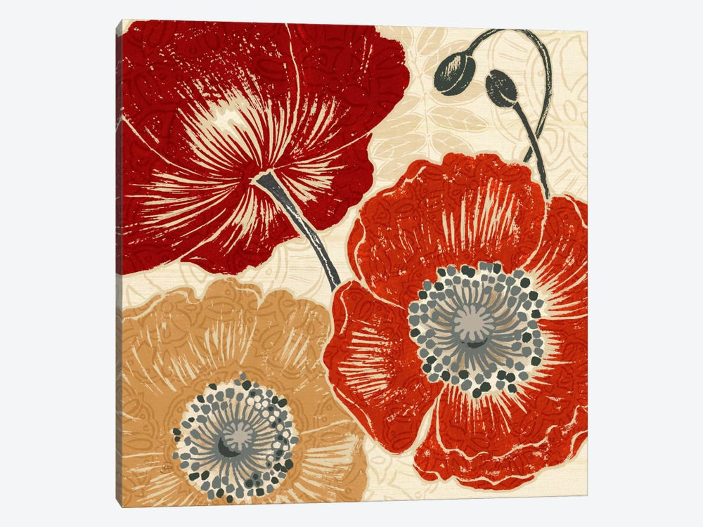 A Poppys Touch II  by Daphne Brissonnet 1-piece Canvas Artwork