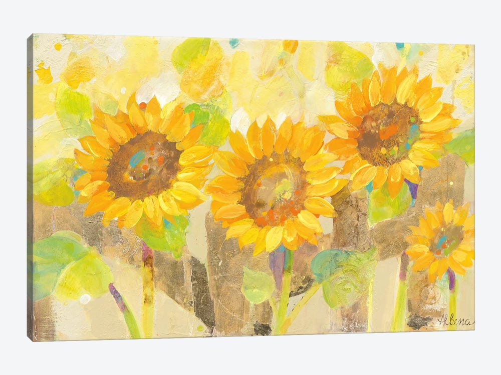 Turn To The Sun by Albena Hristova 1-piece Canvas Wall Art