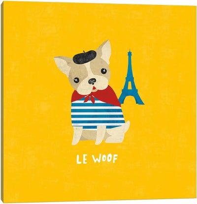 Good Dogs Series: French Bulldog Canvas Print #WAC4399