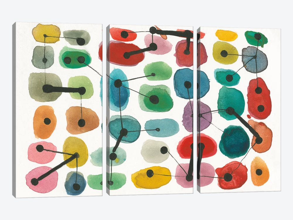 Mid Century II by Cheryl Warrick 3-piece Art Print