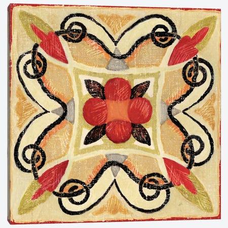 Bohemian Rooster Tile I  Canvas Print #WAC440} by Daphne Brissonnet Canvas Art