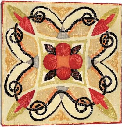 Bohemian Rooster Tile I  Canvas Art Print