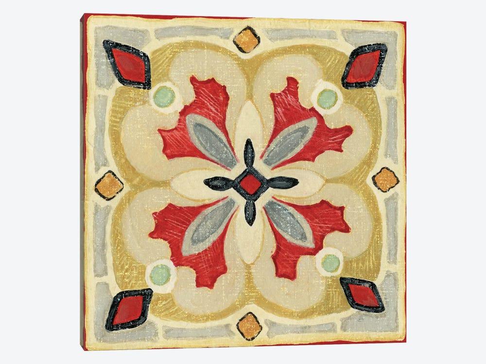Bohemian Rooster Tile III  by Daphne Brissonnet 1-piece Art Print