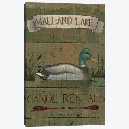 Lodge Signs IV Canvas Print #WAC4433} by James Wiens Canvas Art