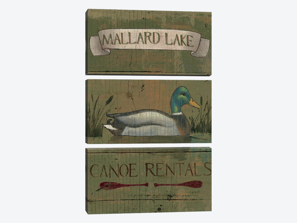 Lodge Signs IV by James Wiens 3-piece Canvas Art Print