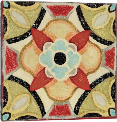 Bohemian Rooster Tile IV  Canvas Art Print