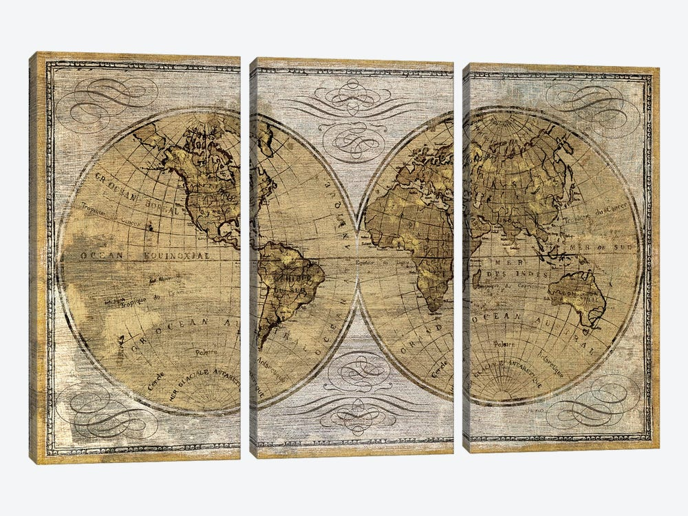Worldwide I by James Wiens 3-piece Art Print