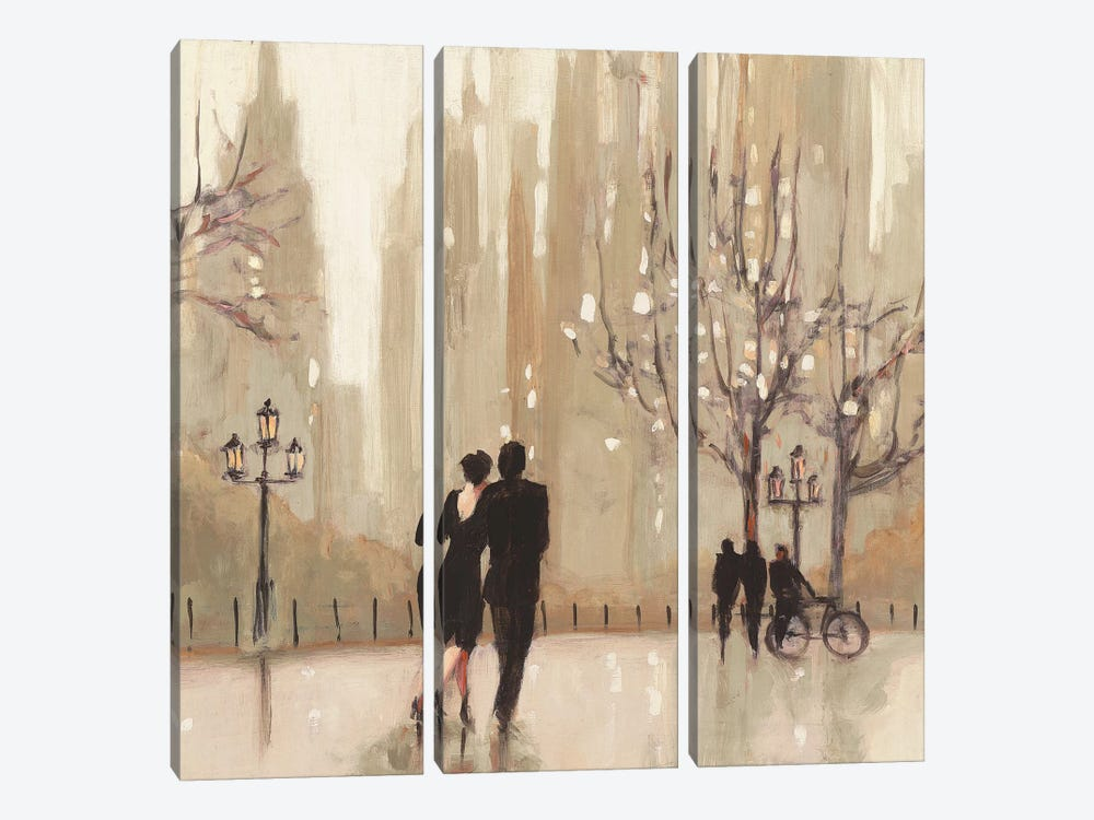 An Evening Out II by Julia Purinton 3-piece Canvas Print