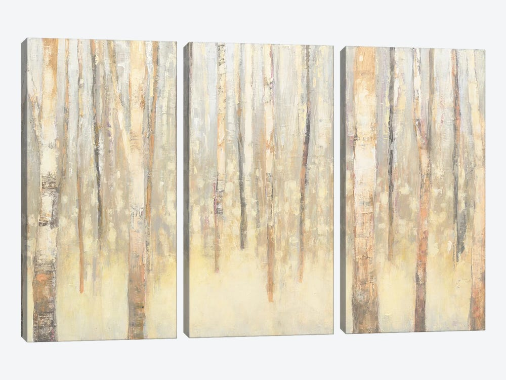 Birches In Winter I by Julia Purinton 3-piece Canvas Artwork