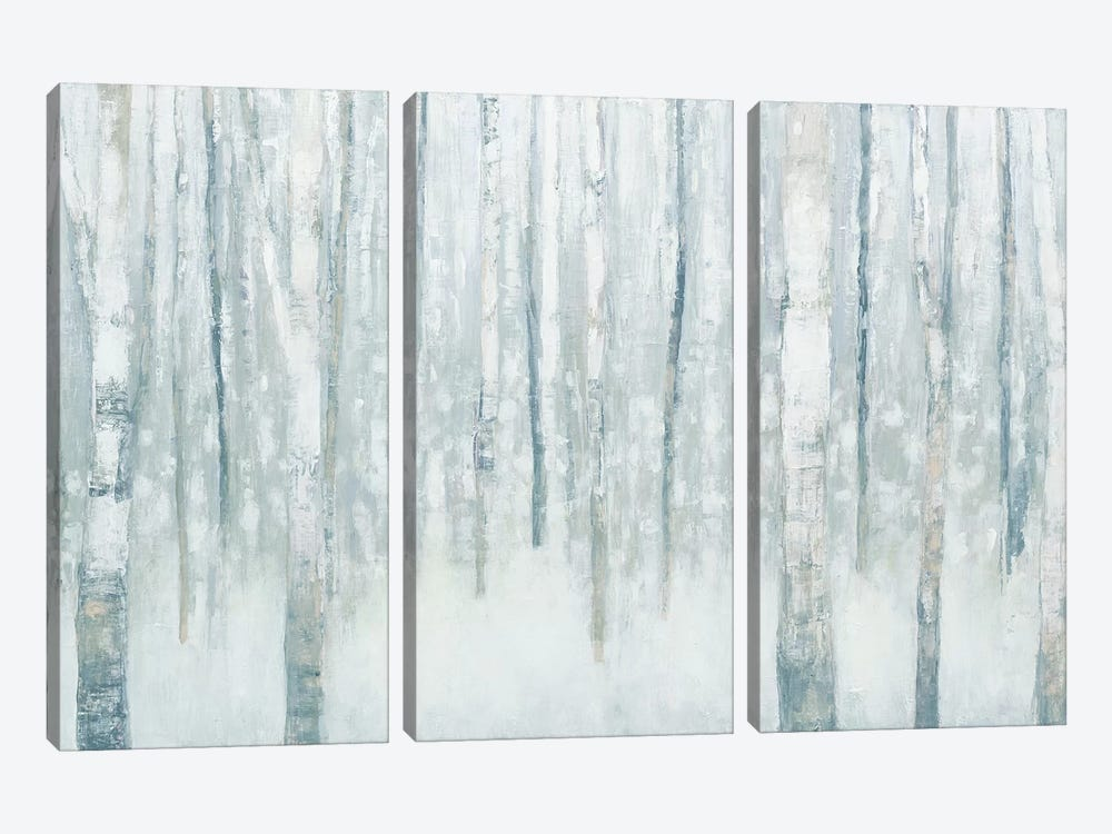 Birches In Winter II by Julia Purinton 3-piece Canvas Print