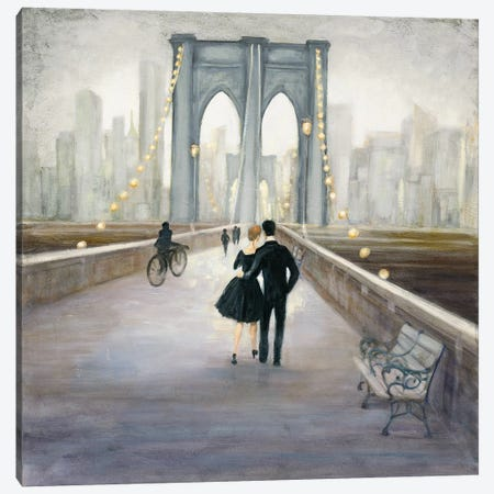 Bridge To New York Canvas Print #WAC4449} by Julia Purinton Canvas Art Print