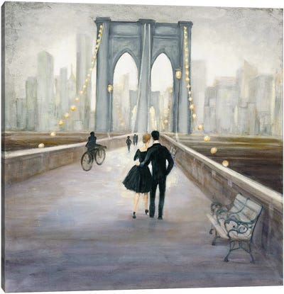 Bridge To New York Canvas Art Print
