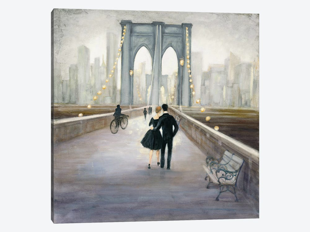 Bridge To New York by Julia Purinton 1-piece Canvas Wall Art