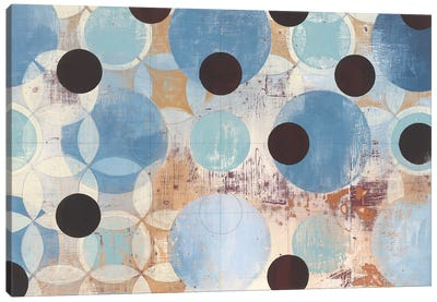 Blue Dots Canvas Art Print