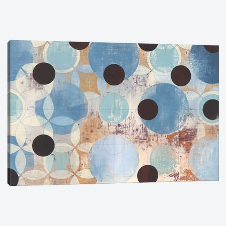 Blue Dots Canvas Print #WAC4453} by Kathrine Lovell Canvas Wall Art