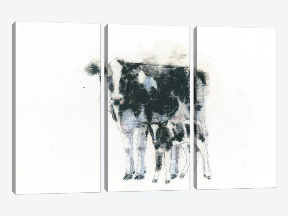 Cow And Calf by Emily Adams 3-piece Canvas Artwork
