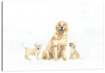 Dog And Puppies Canvas Print #WAC4467