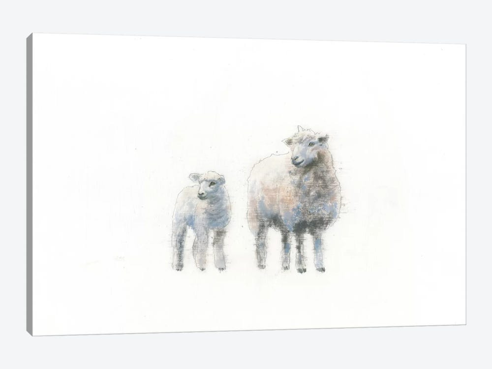 Sheep And Lamb by Emily Adams 1-piece Canvas Print