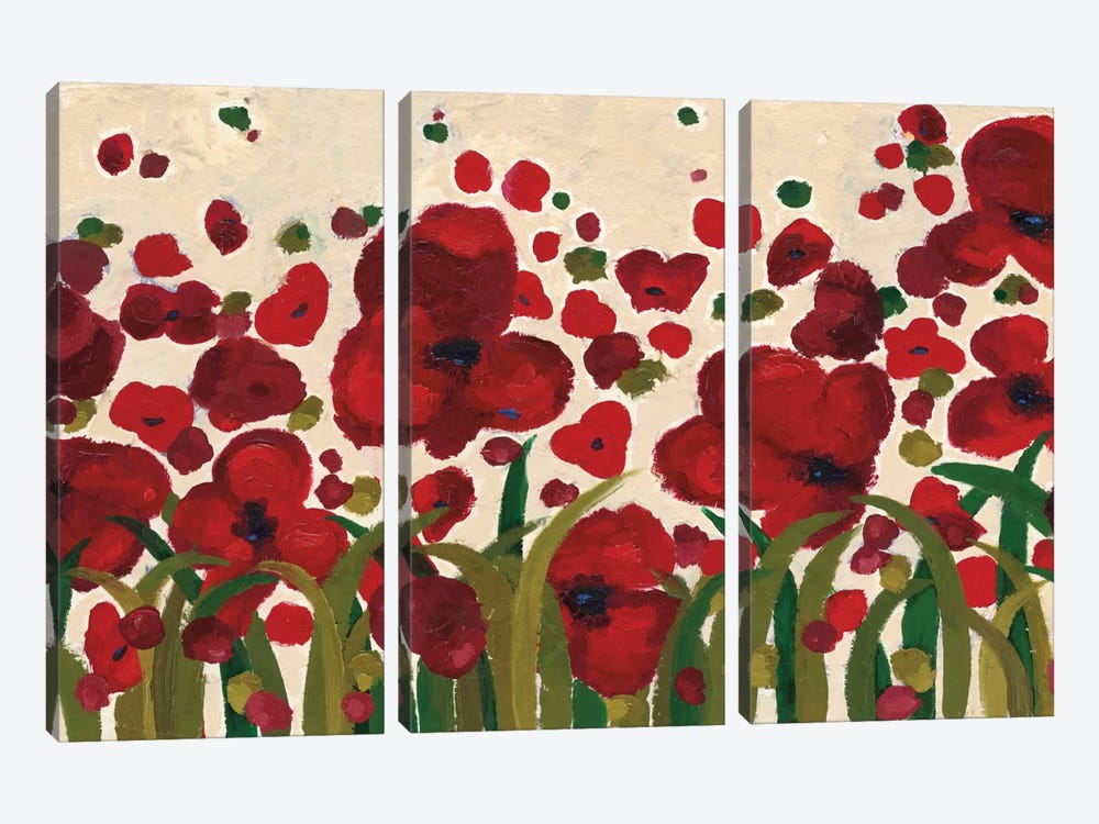 Ascending Flowers by Wild Apple Portfolio 3-piece Canvas Artwork