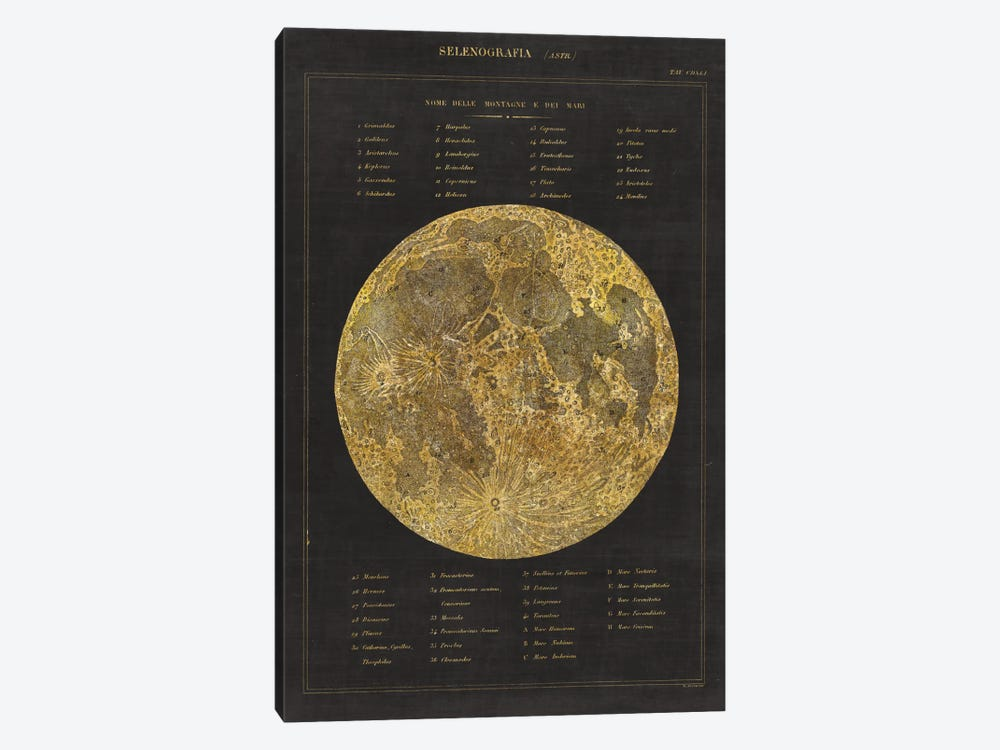 Astronomical Chart I by Wild Apple Portfolio 1-piece Canvas Print