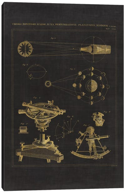 Astronomical Chart II Canvas Art Print