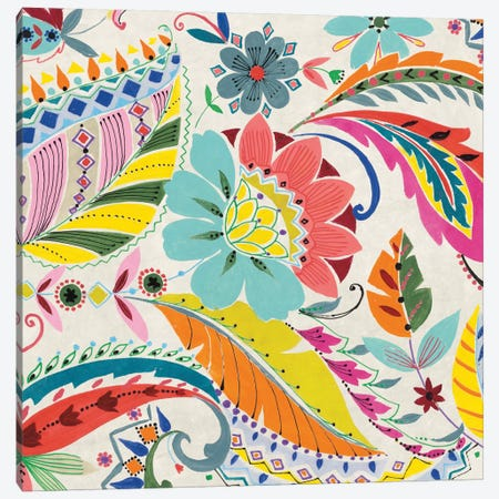 Boho Paisley I Canvas Print #WAC4480} by Wild Apple Portfolio Canvas Art Print