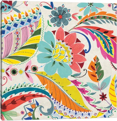 Boho Paisley I Canvas Art Print