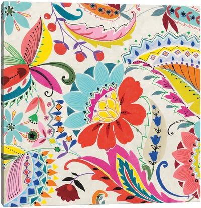 Boho Paisley II Canvas Art Print