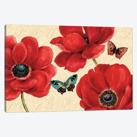 Petals and Wings on Beige I  Canvas Print #WAC448} by Daphne Brissonnet Canvas Artwork