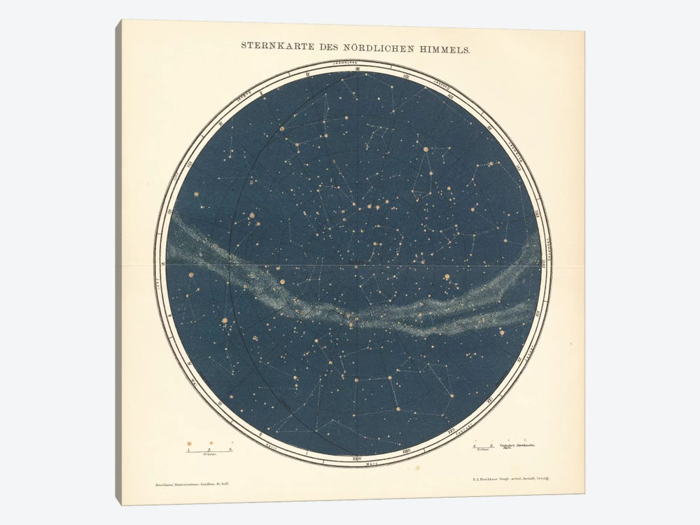 Celestial Sphere North 1-piece Art Print