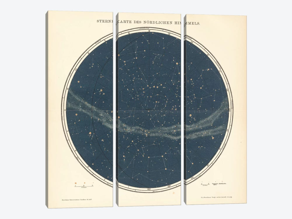 Celestial Sphere North 3-piece Canvas Art Print