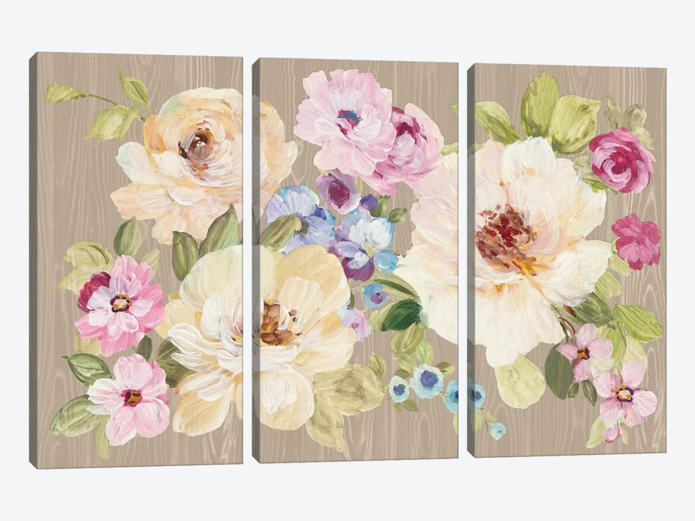 Driftwood Garden IX by Wild Apple Portfolio 3-piece Canvas Artwork
