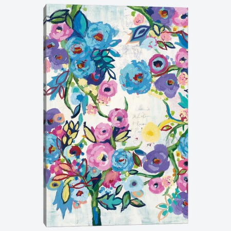 Floral Recipe Canvas Print #WAC4497} by Wild Apple Portfolio Canvas Print