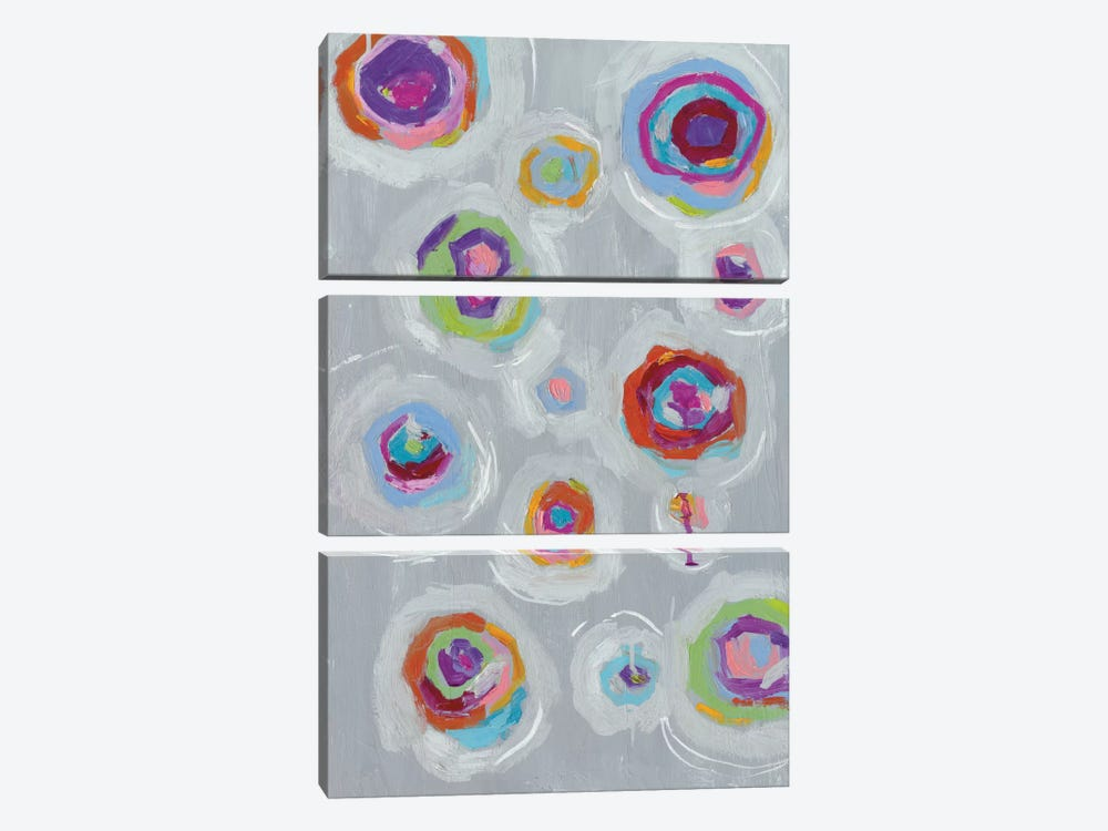 Frolic I by Wild Apple Portfolio 3-piece Canvas Wall Art