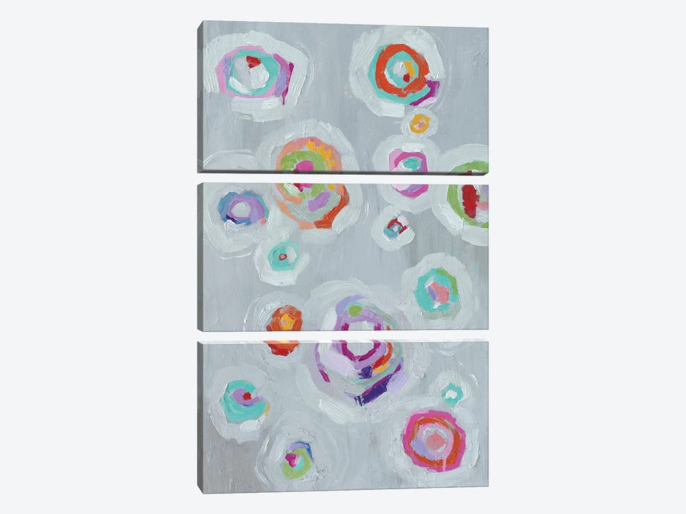 Frolic II by Wild Apple Portfolio 3-piece Canvas Print