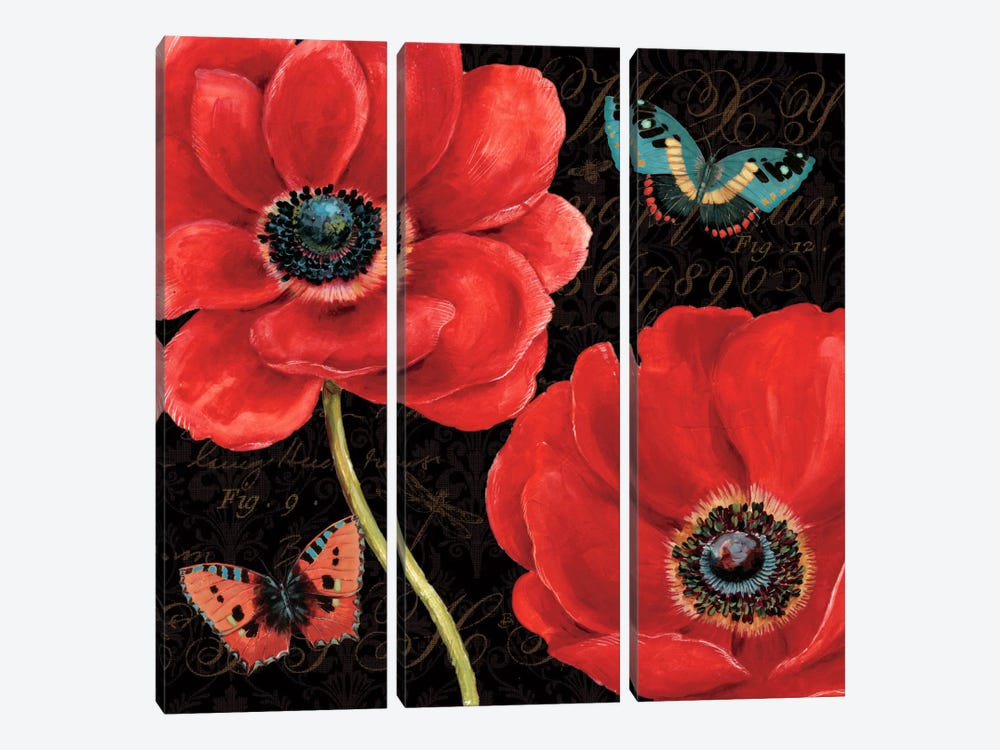 Petals and Wings II by Daphne Brissonnet 3-piece Canvas Artwork