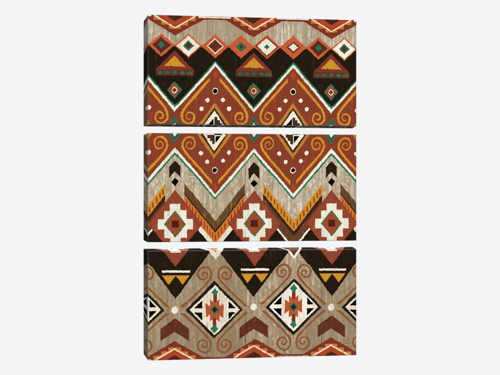 Natural History Lodge Southwest Patterns by Wild Apple Portfolio 3-piece Canvas Print