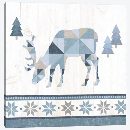 Nordic Geo Lodge Deer II Canvas Print #WAC4517} by Wild Apple Portfolio Canvas Artwork