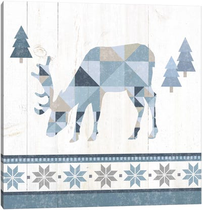 Nordic Geo Lodge Deer II Canvas Art Print