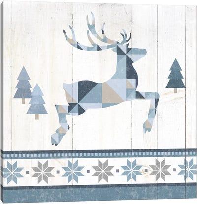 Nordic Geo Lodge Deer III Canvas Art Print