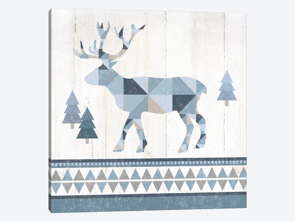 Nordic Geo Lodge Deer IV 1-piece Canvas Wall Art
