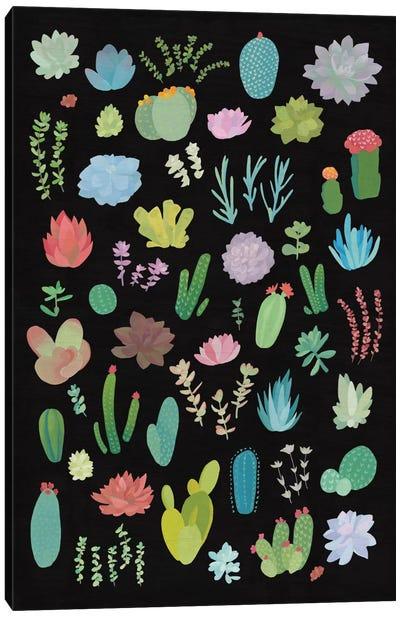 Succulent Plant Chart I Canvas Print #WAC4527