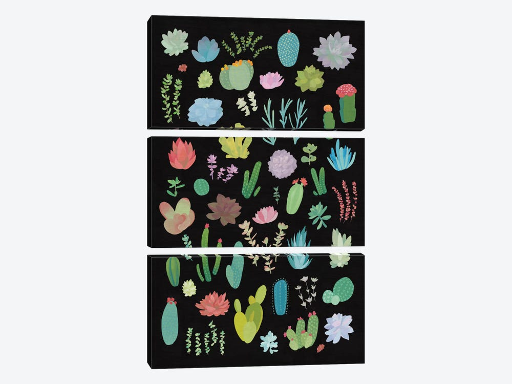Succulent Plant Chart I by Wild Apple Portfolio 3-piece Art Print