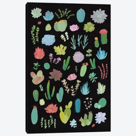 Succulent Plant Chart I Canvas Print #WAC4527} by Wild Apple Portfolio Canvas Print
