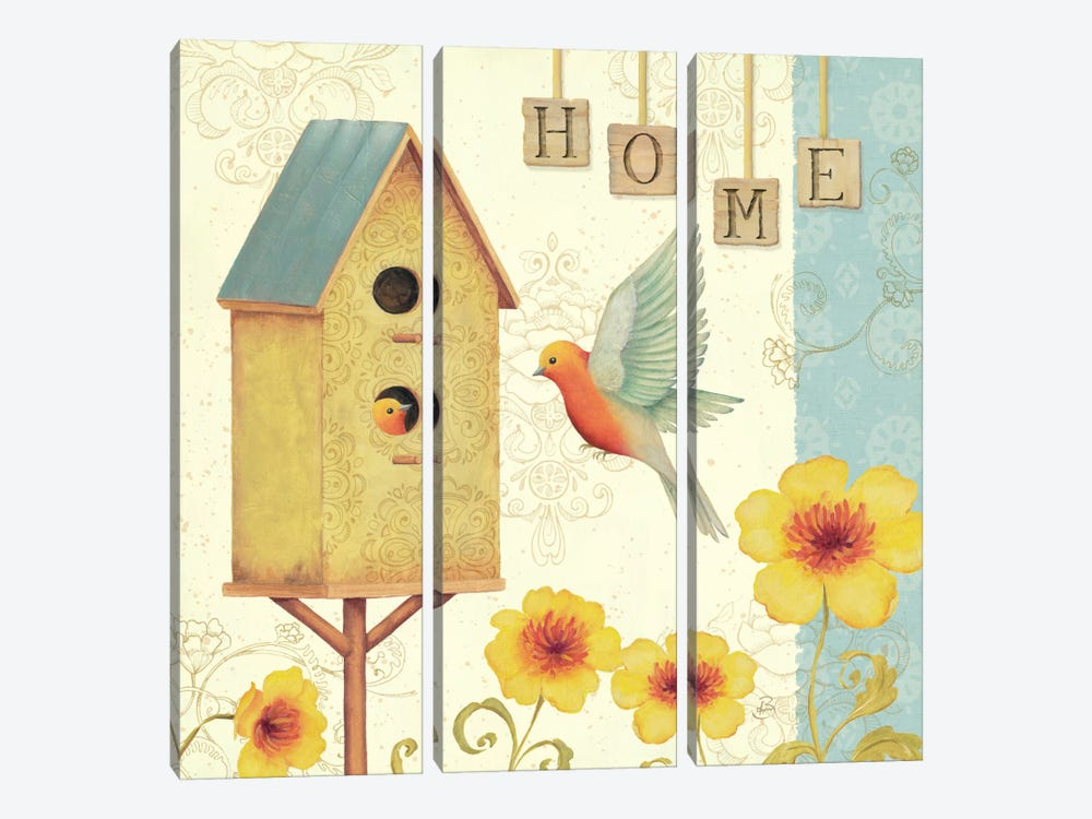 Welcome Home I by Daphne Brissonnet 3-piece Canvas Wall Art