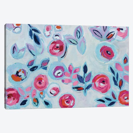 Wall Flower I Canvas Print #WAC4540} by Wild Apple Portfolio Canvas Wall Art