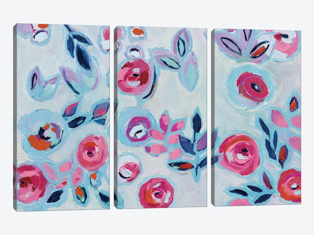 Wall Flower I by Wild Apple Portfolio 3-piece Canvas Wall Art