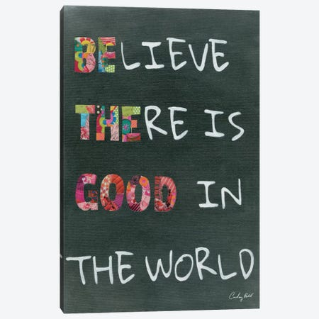 Believe Saying Canvas Print #WAC4549} by Courtney Prahl Canvas Art