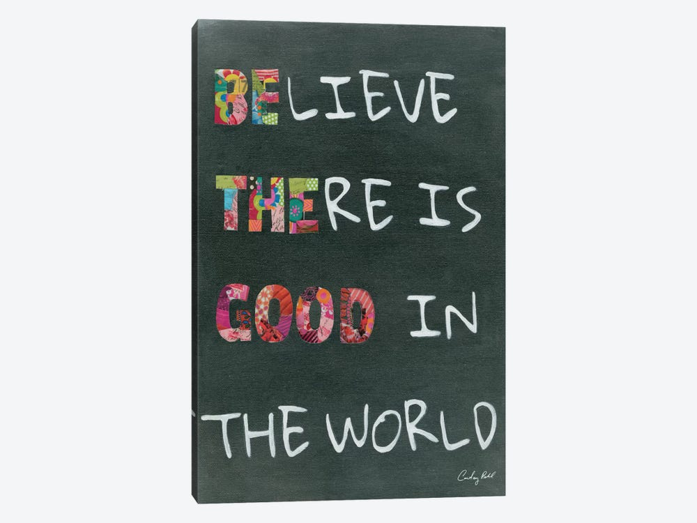 Believe Saying 1-piece Canvas Print
