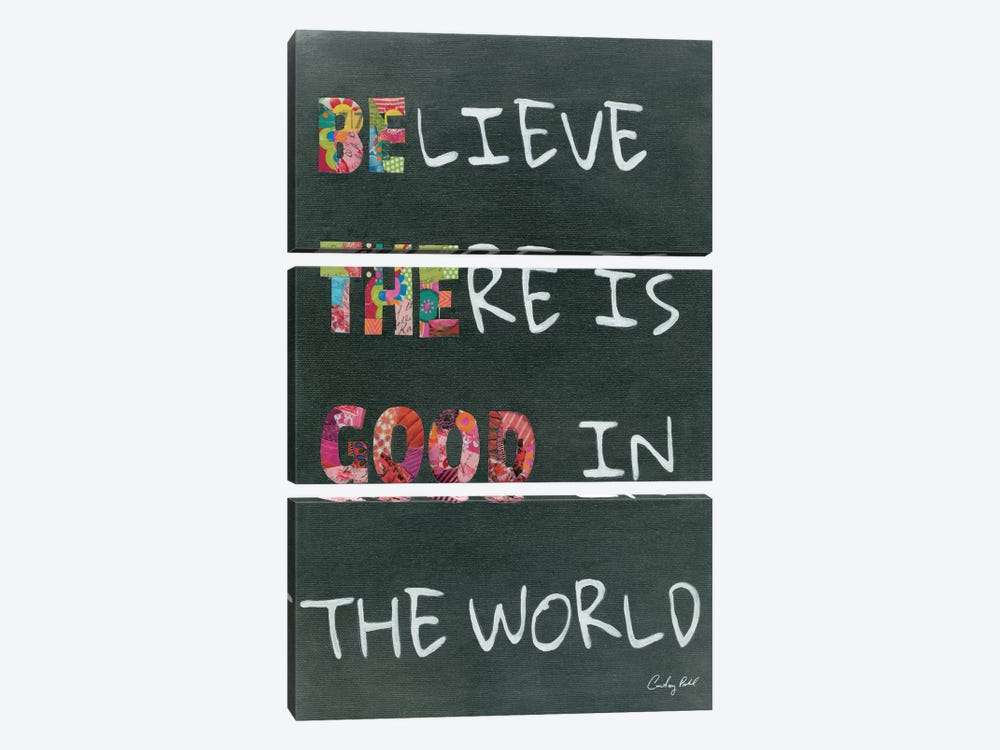Believe Saying 3-piece Canvas Print
